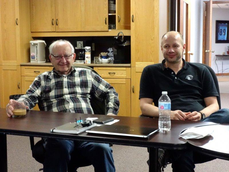 Board member Ken Roth & Daniel
