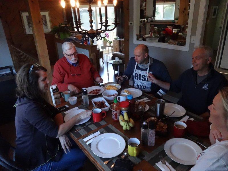 Staff breakfast at the Haws