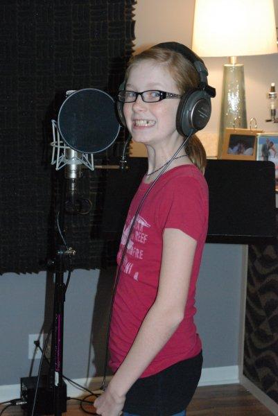 Meg beginning to record.