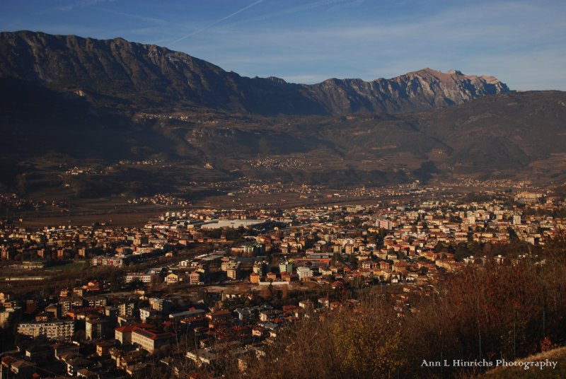 Above Rovereto, Italy-looking East