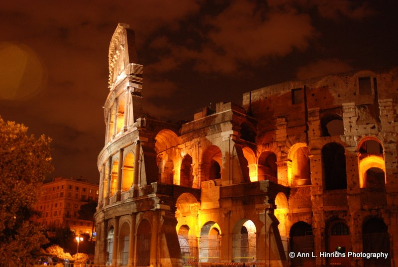 Roman Coliseum at Night 1
