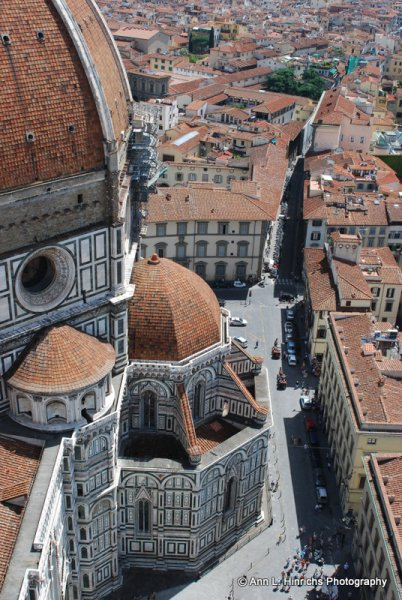 Above the Duomo of Florence