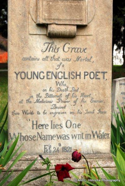 Grave of Poet John Keats