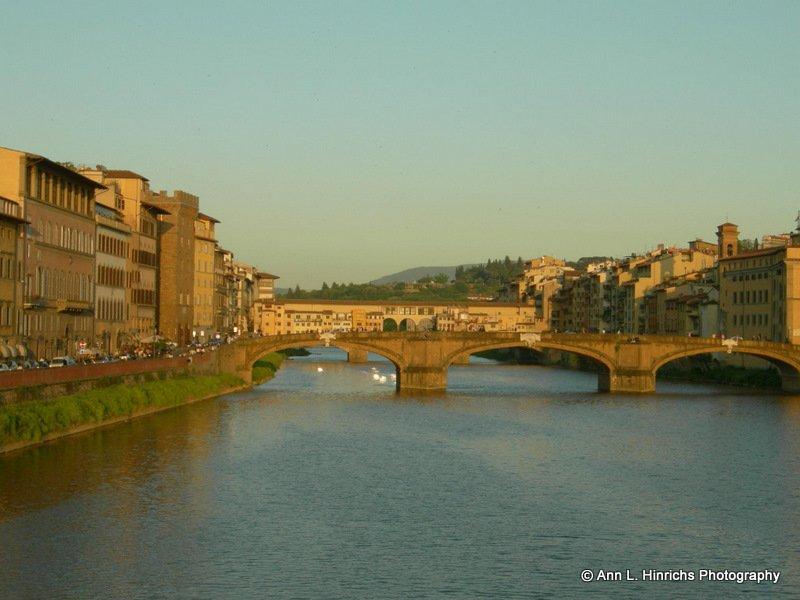 Dusk View of the Ponte Vecchio Bridge