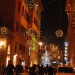 Christmas streets, Florence, Italy