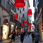 Christmas streets in Florence, Italy