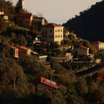 The hills above Chiavari, Italy
