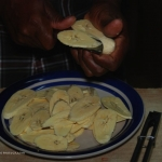 Making Plantain Chips-Belize