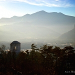 Above Rovereto, Italy-looking West