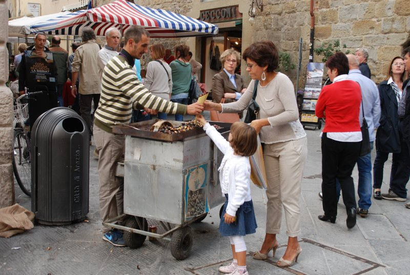 Selling Chestnuts-Arezzo, Italy