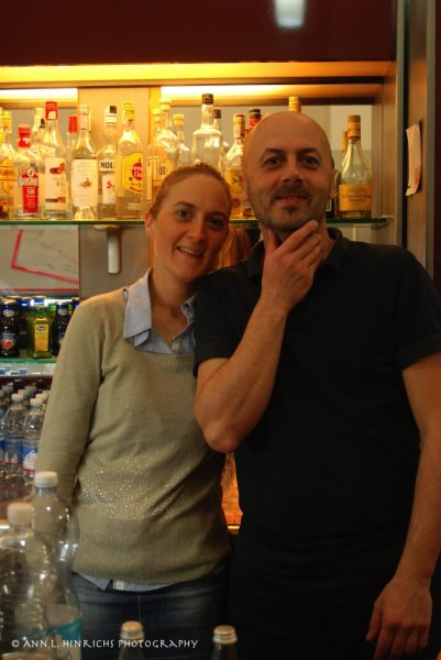 My friends at Dei Famosi Bar, Arezzo, Italy