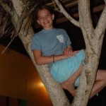 Mikayla up a tree in Belize