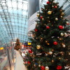 Christmas decor at the station